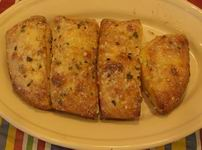 GARLIC BREAD - Crispy on the outside, soft on the inside covered in ...